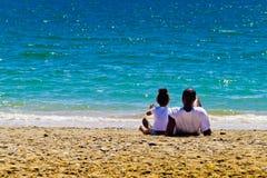 Mar preto da família e do azure Imagem de Stock Royalty Free