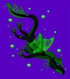 Mar preto do dragão. ilustração royalty free
