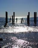 Mar que brilla portuario de Willunga Imagenes de archivo