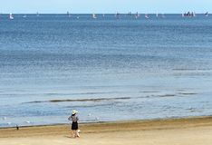 Mar raso da estância turística de Jurmala, Letónia Fotografia de Stock Royalty Free