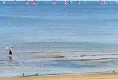 Mar raso da estância turística de Jurmala, Letónia Imagens de Stock Royalty Free