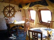 Mar-restaurante. Interior. Imagenes de archivo