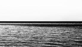Mar Rippled, conceito da imensidade, matiz do sepia imagem de stock