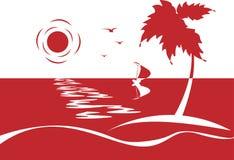Mar Rojo ilustración del vector