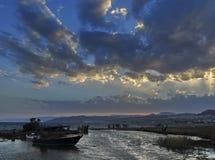 Mar Rosso, tramonto Fotografia Stock