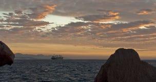 Mar Rosso, tramonto Immagine Stock