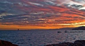 Mar Rosso, tramonto Fotografie Stock Libere da Diritti