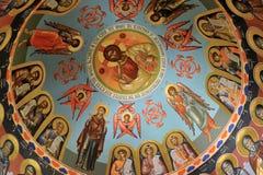 Mar Saba cathedral interior, Israel. Royalty Free Stock Image
