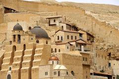 Mar Saba convent buildings, Israel. Royalty Free Stock Photography