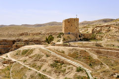 Mar Saba convent guesthouse, Israel. Royalty Free Stock Image