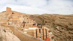 Mar Saba convent panoramic view. Stock Image