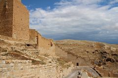 The Mar Saba Monastery, Laura of our Holy Father Sabbas stock photo
