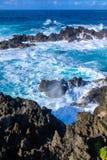 Mar selvagem em Porto Moniz imagem de stock royalty free