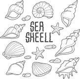 Mar Shell Vector Illustration ilustración del vector