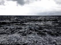 Mar siciliano de precipitación imagen de archivo libre de regalías