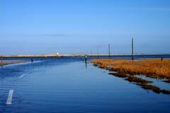 Mar sobre el camino Foto de archivo libre de regalías