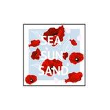 Mar, sol, diseño gráfico del fondo de la arena Fotografía de archivo libre de regalías