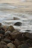 Mar suave por el obturador de poca velocidad Imagen de archivo libre de regalías
