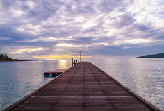 Mar tailandês do nascer do sol Foto de Stock Royalty Free