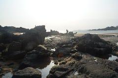 Mar, tempestade, pessoa Fotos de Stock