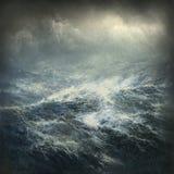 Mar tempestuoso ilustración del vector