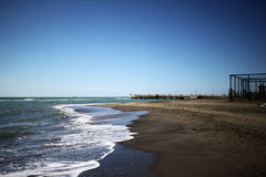 Mar Tirreno in autunno Fotografia Stock