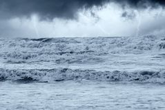 Mar tormentoso Fotos de Stock Royalty Free