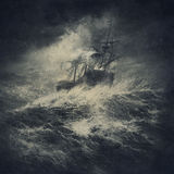 Mar tormentoso fotografia de stock