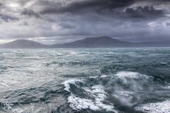 Mar tormentoso no cozinheiro Straight Fotografia de Stock Royalty Free