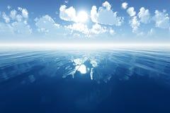 Mar tranquilo azul Imágenes de archivo libres de regalías