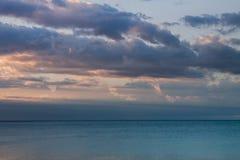 Mar tranquilo de la salida del sol Imagen de archivo libre de regalías