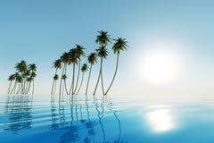 Mar tropical azul fotos de archivo