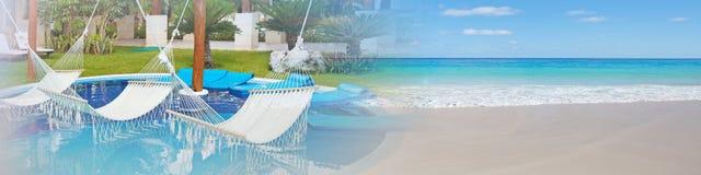Mar tropical da praia fotos de stock royalty free