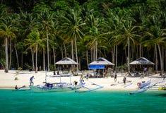 Mar tropical em Palawan, Filipinas Fotografia de Stock