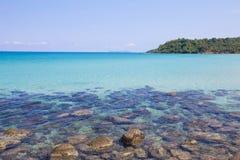 Mar tropical na ilha do kood do Koh, província de Trat, Tailândia Fotografia de Stock