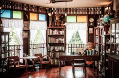 Rustic wooden vintage furniture country house interior concept d stock images