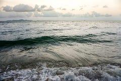 Mar, vintage uma foto e cores pastel macias da onda foco do solf Imagem de Stock Royalty Free