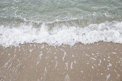 Mar, vintage uma foto e cores pastel macias da onda foco do solf Imagens de Stock Royalty Free