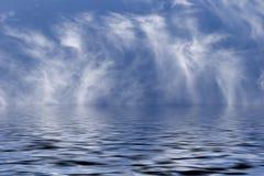 Mar y cielo Fotografía de archivo libre de regalías