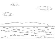 Mar y cielo, contornos Imagenes de archivo