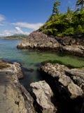 Mar y cielo de las rocas Imagen de archivo