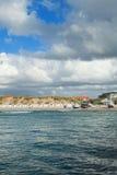 Mar y cielo en Aarhus en Dinamarca Foto de archivo libre de regalías