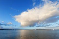 Mar y cielo en Aarhus en Dinamarca Imágenes de archivo libres de regalías