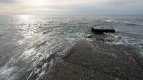 Mar y costa almacen de metraje de vídeo