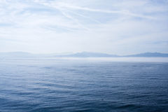 Mar y horizonte Foto de archivo libre de regalías