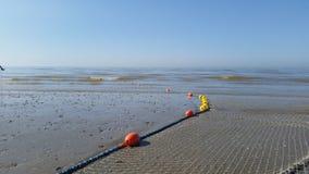 Mar y la red de pesca Imagenes de archivo