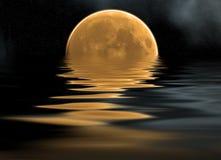 Mar y luna Stock de ilustración