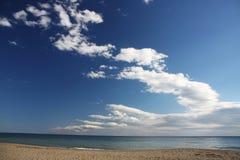 Mar y nubes Fotos de archivo libres de regalías