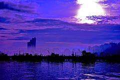 Mar y pescador Foto de archivo