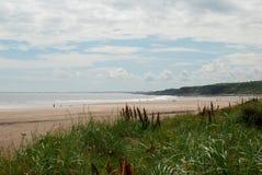 Mar y playa en Spittal por el Berwick-sobre-tweed imágenes de archivo libres de regalías